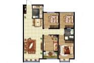 东方紫苑 C3户型,3室2厅1卫,115平米