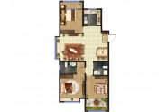 东方紫苑 A5户型,3室2厅2卫,119平米